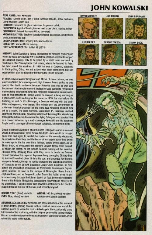 Ghost Mimicry-John Kowalski-Marvel Legacy The 's Handbook #1 (1970)
