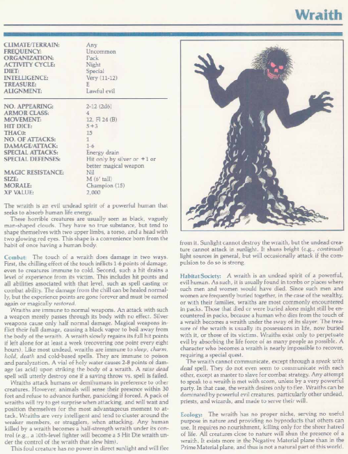 ghost-mimicry-wraith-tsr-2140a-monstrous-manual