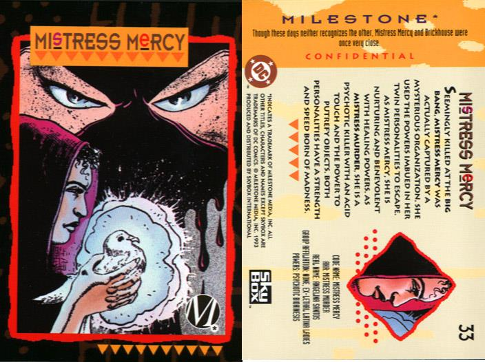 Heal Others-Mistress Mercy-Milestone Media Universe Card Set