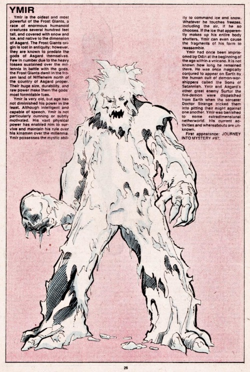 Ice Mimicry-Ymir-Official Handbook of the Marvel Universe V1 #12