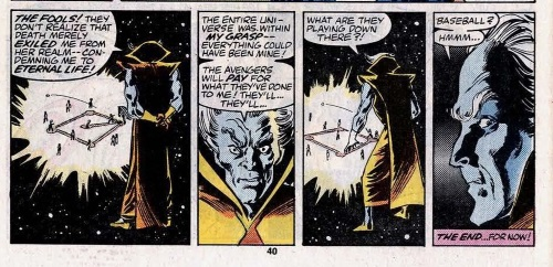 Immortality (others)-Grandmaster exiled from death-Avengers Annual #15