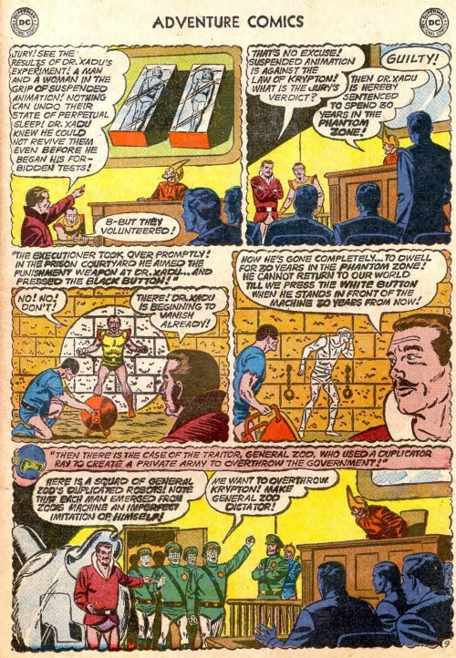 Intangibility (other)-Phantom Zone Projector-Adventure Comics V1 #283