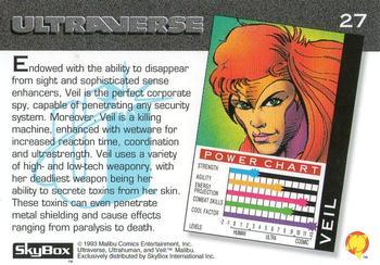 Invisibility-1993 SkyBox Ultraverse-27Bk Veil