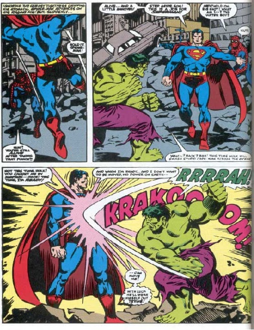 Invulnerability–Superman vs Hulk-Superman vs Spiderman II