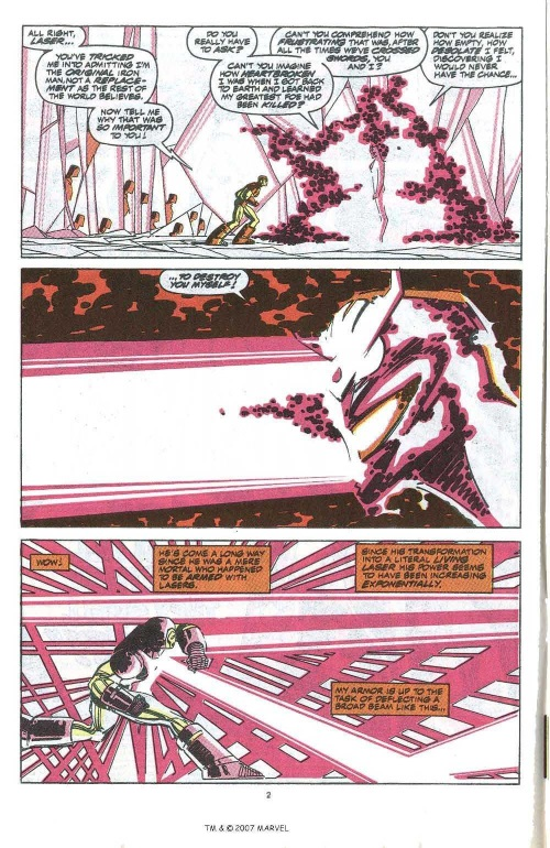 Light mimicry-Living Laser-The Invincible Iron Man V1 #260