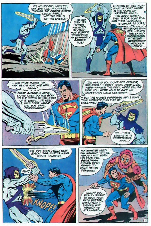 Magic Resistance-Skeletor cuts Superman-DC Comics Presents #47