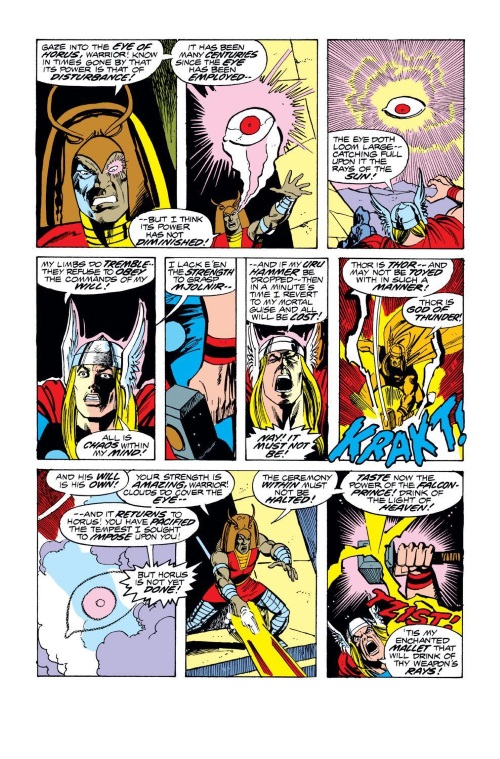 Magic Resistance-Thor resists Horus-Thor V1 #240