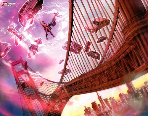 Magnetism Manipulation–Magneto Lifts Golden Gate Bridge-Uncanny X-Men V1 #534.1