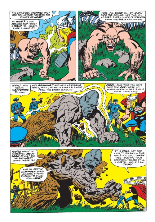 Matter absorption-Absorbing Man-Journey Into Mystery V1 #115