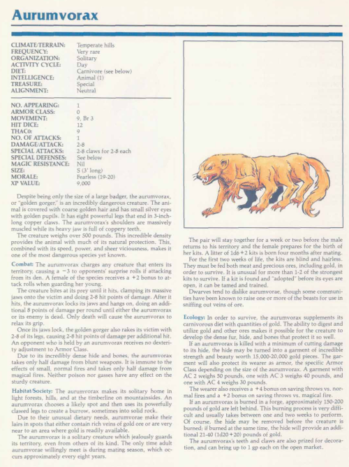 matter-ingestion-aurumkvorax-tsr-2140a-monstrous-manual