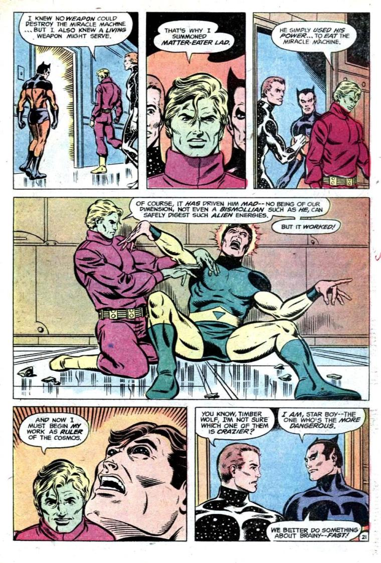 Matter ingestion–Matter Lad Insane-Legion of Super-Heroes V1 #251