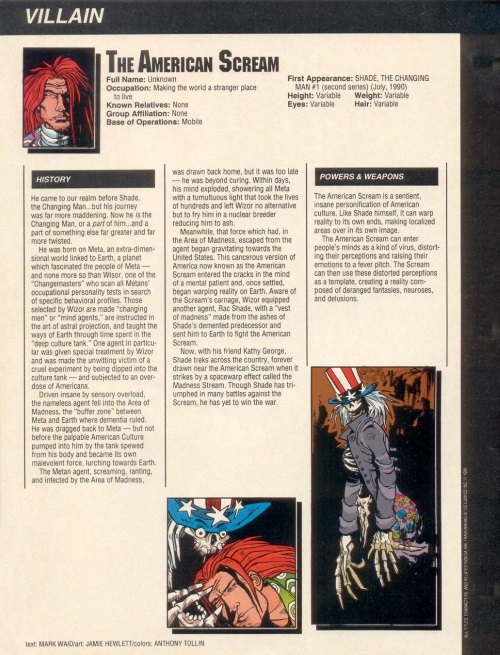 Memetic Mimicry-American Scream-Who's Who in the DC Universe #15