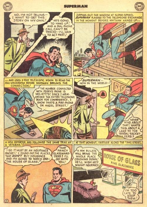Memory Enhanced –Superman memorizes phone book-Superman V1 #72