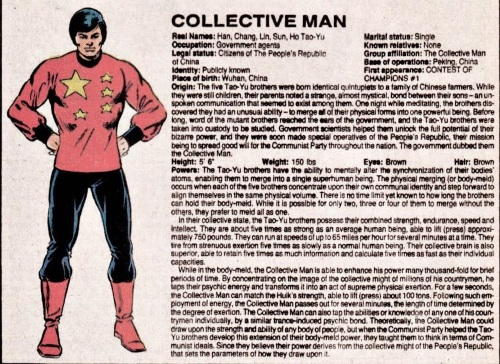 Merging (humanoids)-Collective Man-Official Handbook of the Marvel Universe V1 #2