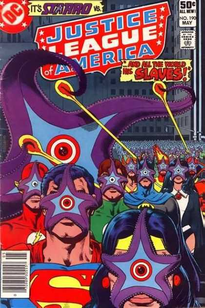Merging (humanoids)-Starro-Justice League of America V1 #190