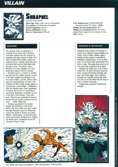 Metal Mimicry-Shrapnel-Who's Who in the DC Universe #13