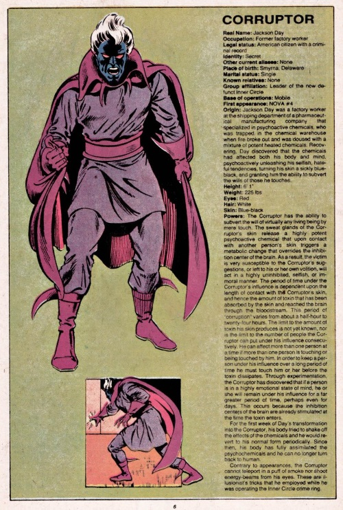 Mind Control (corruption)-Corruptor-Official Handbook of the Marvel Universe V1 #3