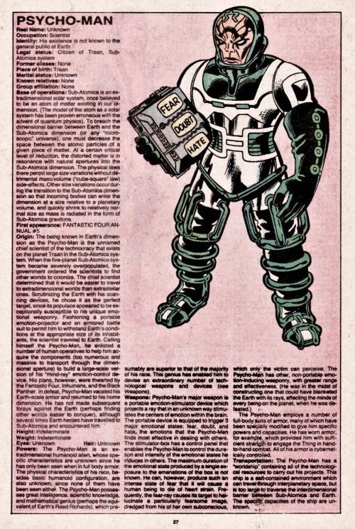 Mind Control (emotion)-Psycho-Man-Official Handbook of the Marvel Universe V1 #8