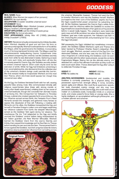 Mind Control (good)-Goddess-Marvel Legacy The's Handbook #1 (1990)