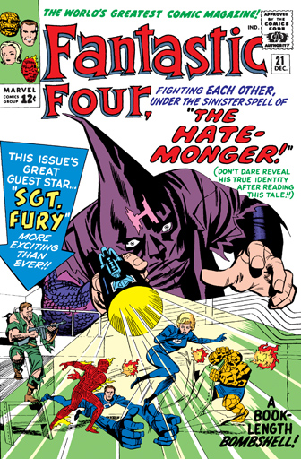 Mind Control (hate)–Hate Monger-Fantastic Four V1 #21