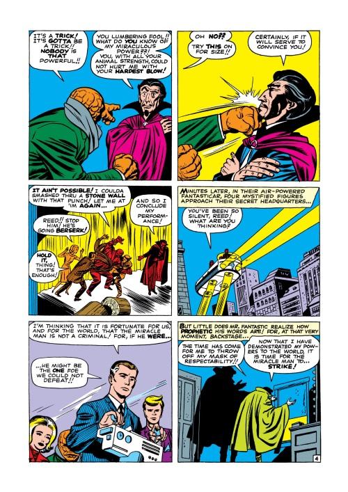 Mind Control (hypnotism)-Miracle Man-Fantastic Four V1 #3-5