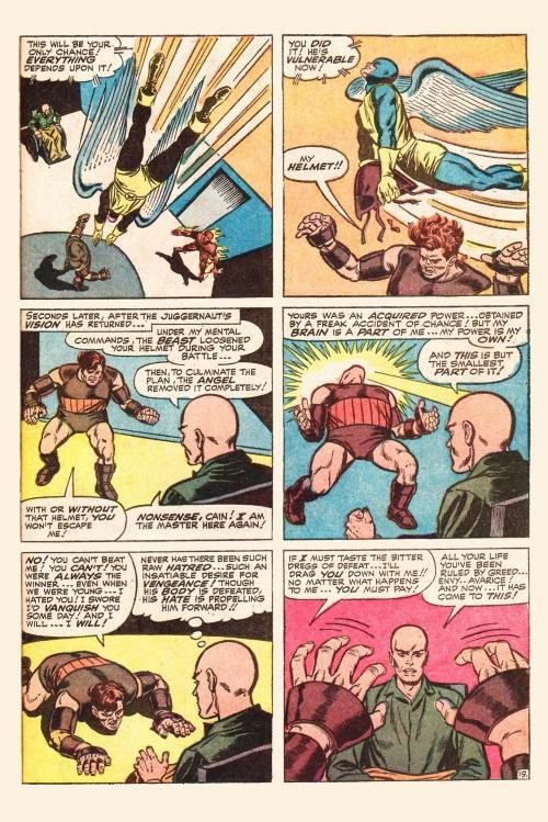 Mind control resistance–Juggernaut-Uncanny X-Men V1 #13-20