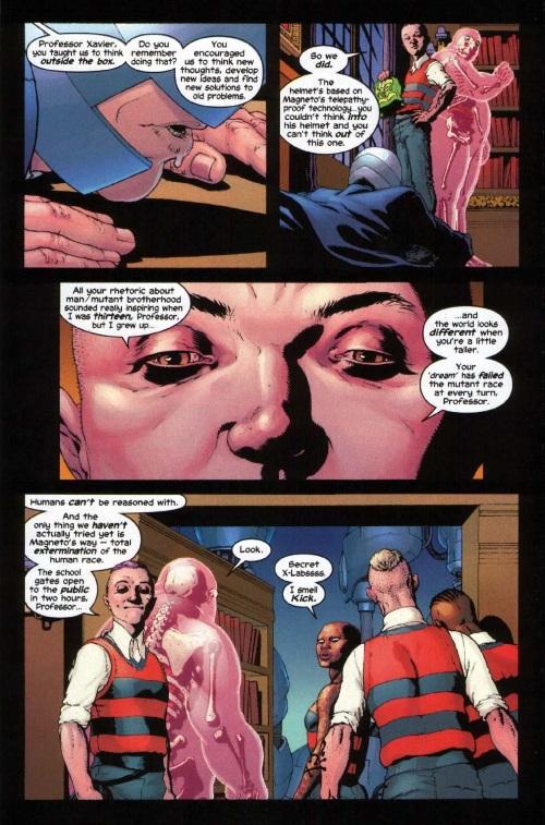 Mind Control Resistance–Quentin Quire-New X-Men V1 #136