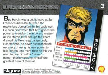 Molecular Manipulation (object)-1993 SkyBox Ultraverse-3Bk Atom Bob