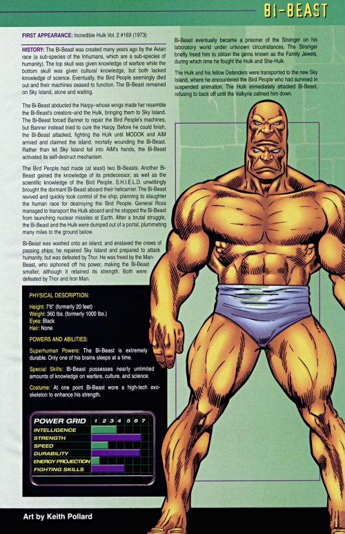 Multiple Brains-Bi-Beast-Official Handbook of the Marvel Universe (2004)