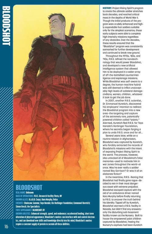 Nanite Manipulation-Bloodshot-Valiant Universe Handbook FCBD (2014)