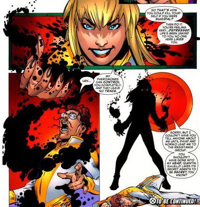 Pheromone manipulation–Wallflower (Marvel)
