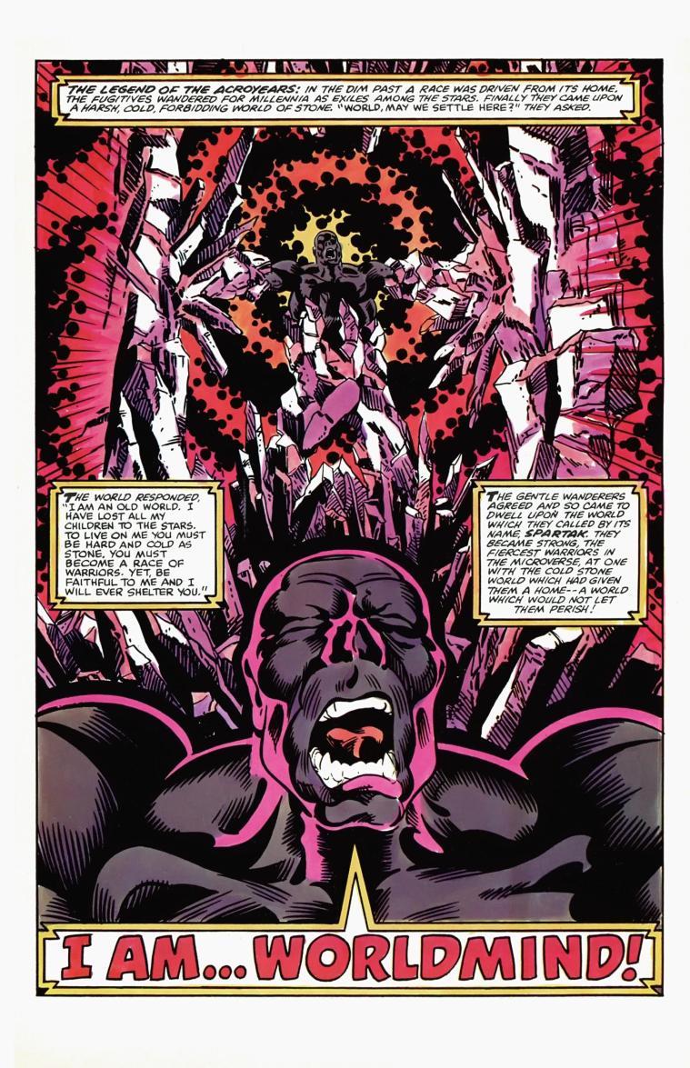 Planetary Manipulation–Acroyear-World Mind-Micronauts V1 #9 (Marvel)