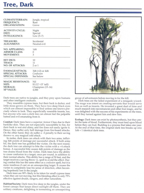 plant-mimicry-dark-tree-tsr-2145-monstrous-compendium-annual-volume-1