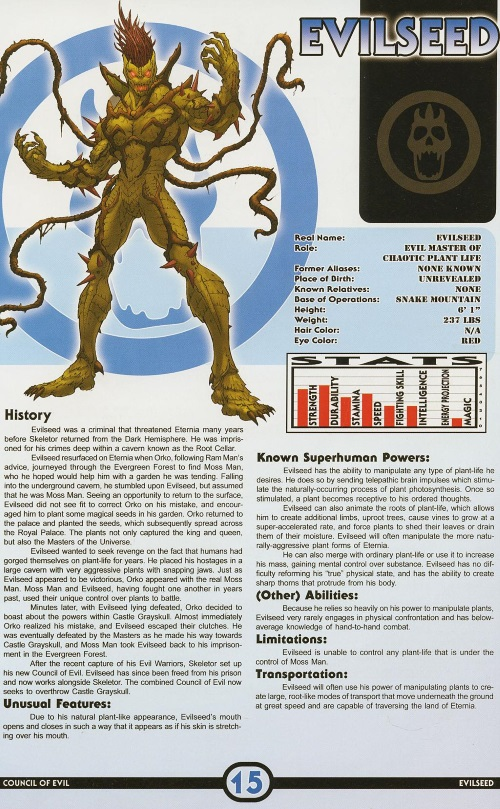 Plant Mimicry-Evilseed-Masters of the Universe - Encyclopedia #1