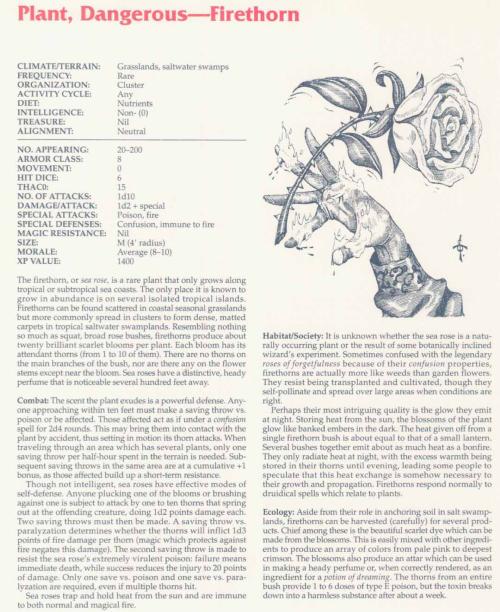 plant-mimicry-firethorn-tsr-2158-monstrous-compendium-annual-volume-2