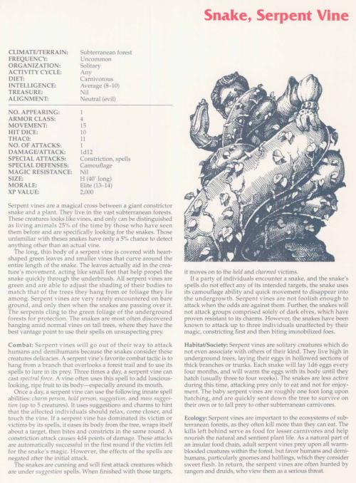 plant-mimicry-serpent-vine-tsr-2158-monstrous-compendium-annual-volume-2
