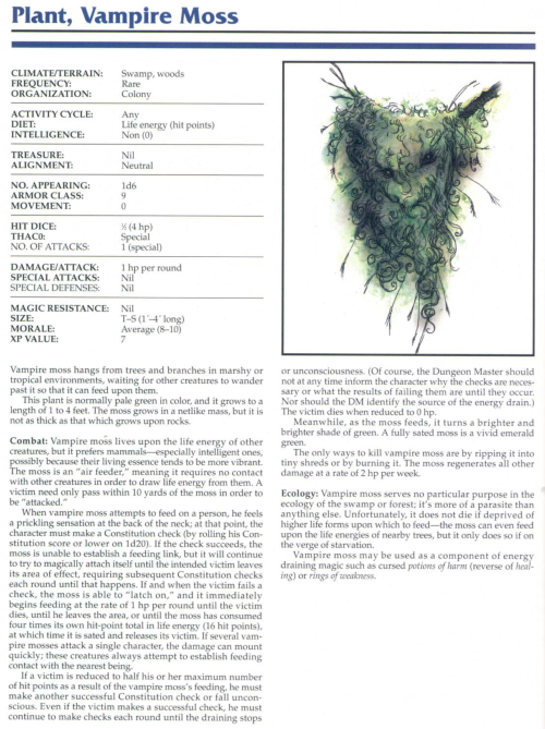 plant-mimicry-vampire-moss-tsr-2145-monstrous-compendium-annual-volume-1