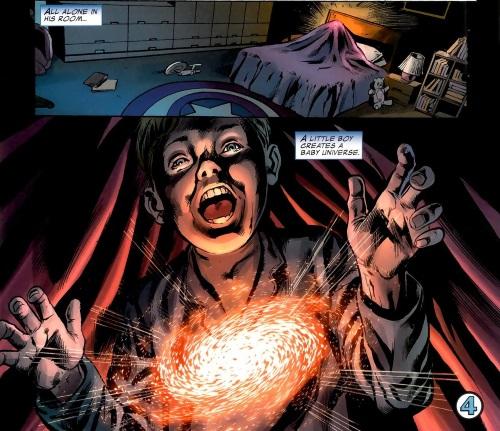 Pocket Dimension Creation–Franklin Richards-Fantastic Four V1 #574