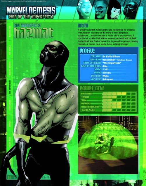 Poison Generation-Hazmat-Marvel Nemesis - Rise of The Imperfects Official Game Guide
