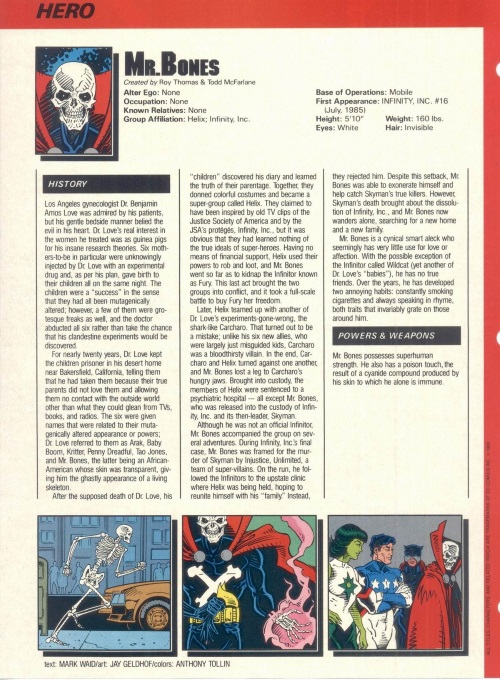 Poison Generation-Mr. Bones-Who's Who in the DC Universe #6