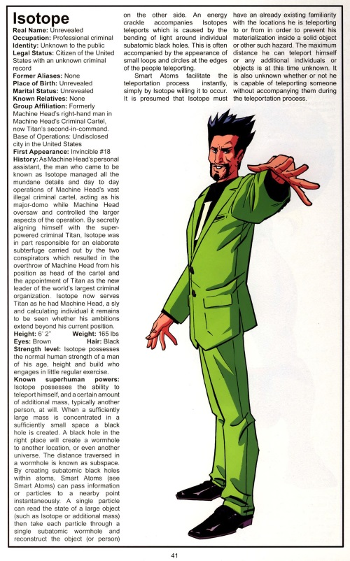 Portal Creation-Isotope-Official Handbook of the Invincible Universe #1