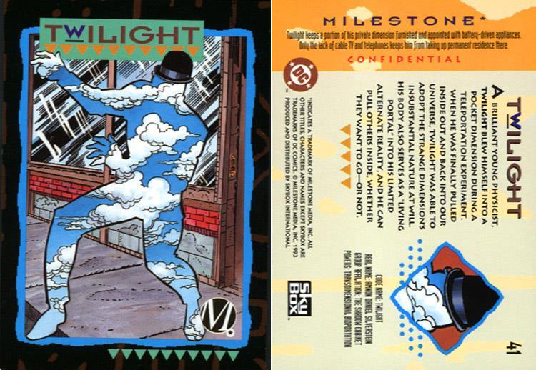 Portal Creation-Twilight-Milestone Media Universe Card Set