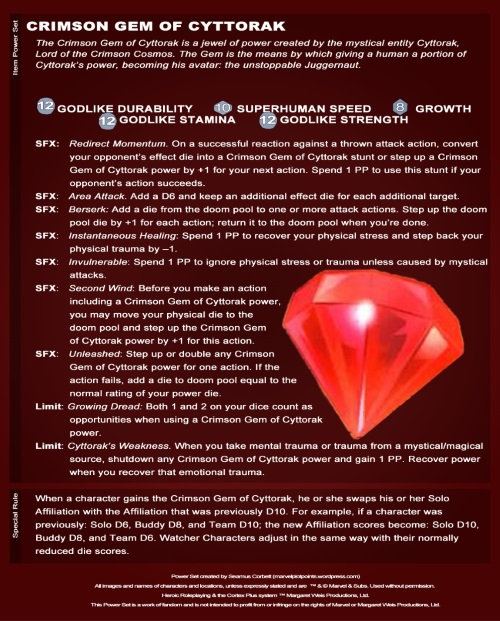 Power Bestowal (objects)-Crimson Gem of Cyttorak Card Stats