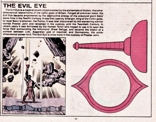 Power Bestowal (objects)-Evil Eye-Official Handbook of the Marvel Universe V1 #15