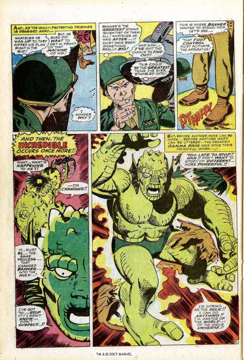 Power Bestowal (persons)–Gamma-Abomination-Tales to Astonish V1 #90