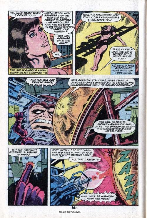 Power Bestowal (persons)–Gamma-Betty Ross-Harpy-Incredible Hulk V1 #168-16