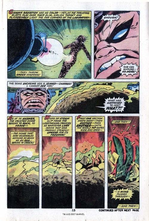 Power Bestowal (persons)–Gamma-Betty Ross-Harpy-Incredible Hulk V1 #168-17