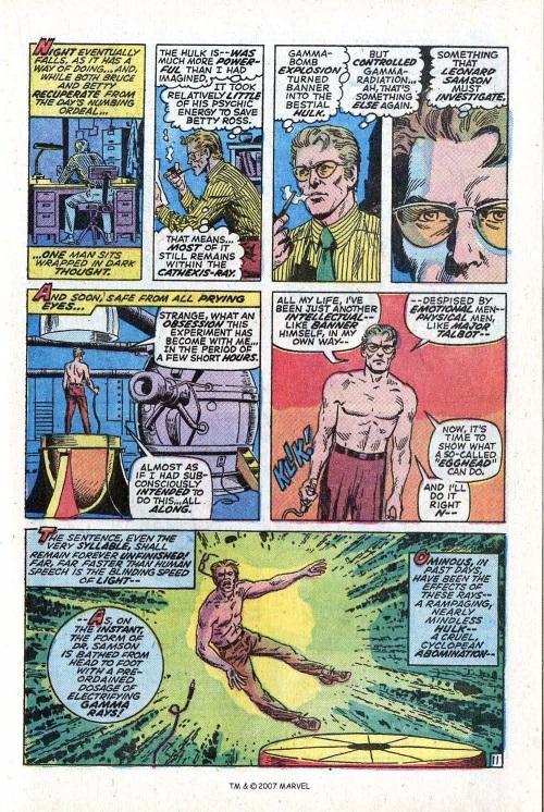 Power Bestowal (persons)–Gamma-Doc Samson-Incredible Hulk V1 #141-17