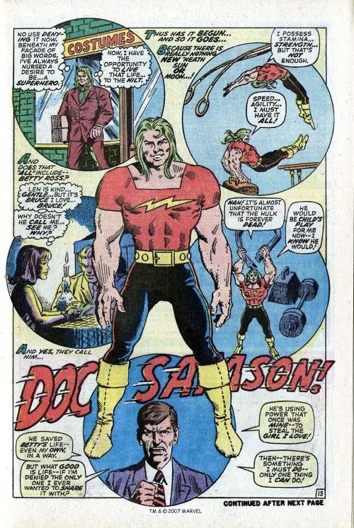 Power Bestowal (persons)–Gamma-Doc Samson-Incredible Hulk V1 #141-21