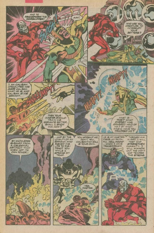 Power Manipulation–Apocalypse manipulates Caliban-X-Factor V1 #50